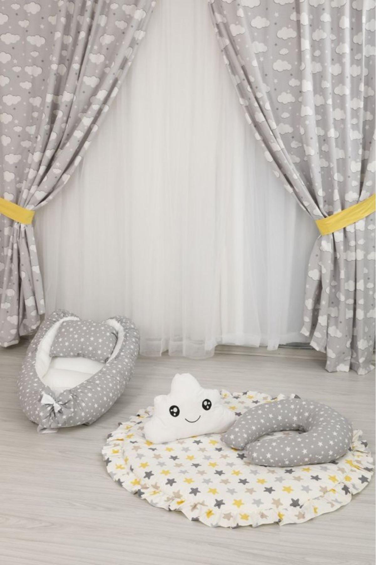 Sarı Yıldızlı Bebek  Oyun Halısı Takımı
