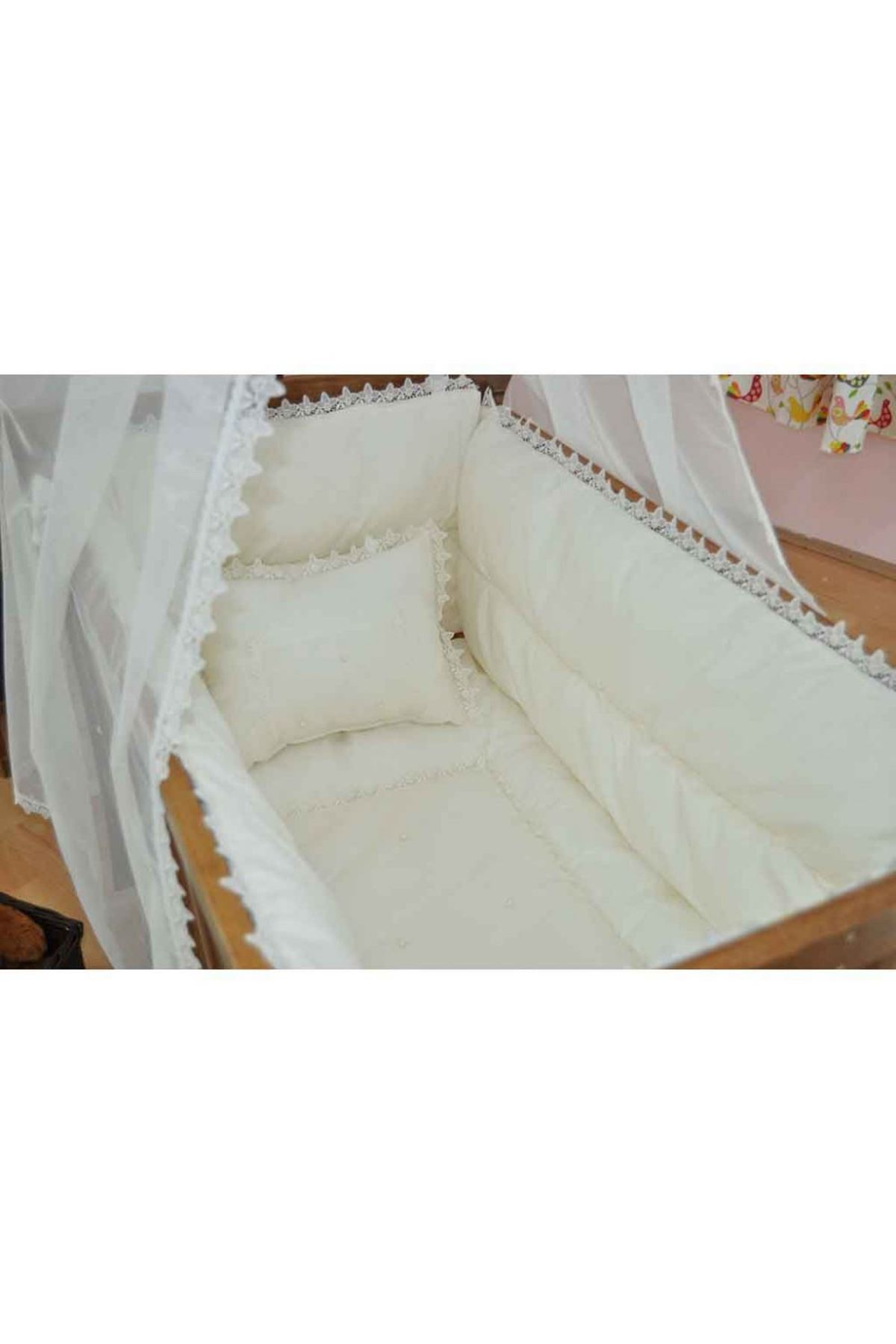 Italian Lacy Cream Baby Sleep Set for Crib