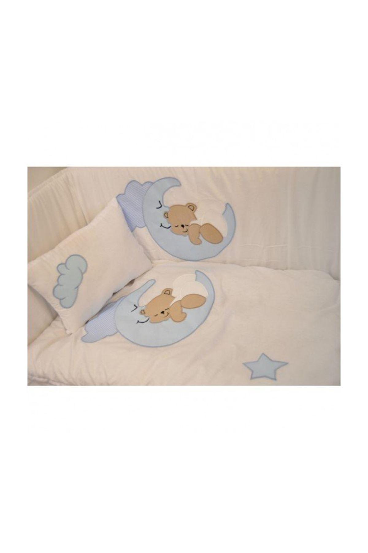 Blue Moon Bear Baby Sleeping Set Mother Side Cradle
