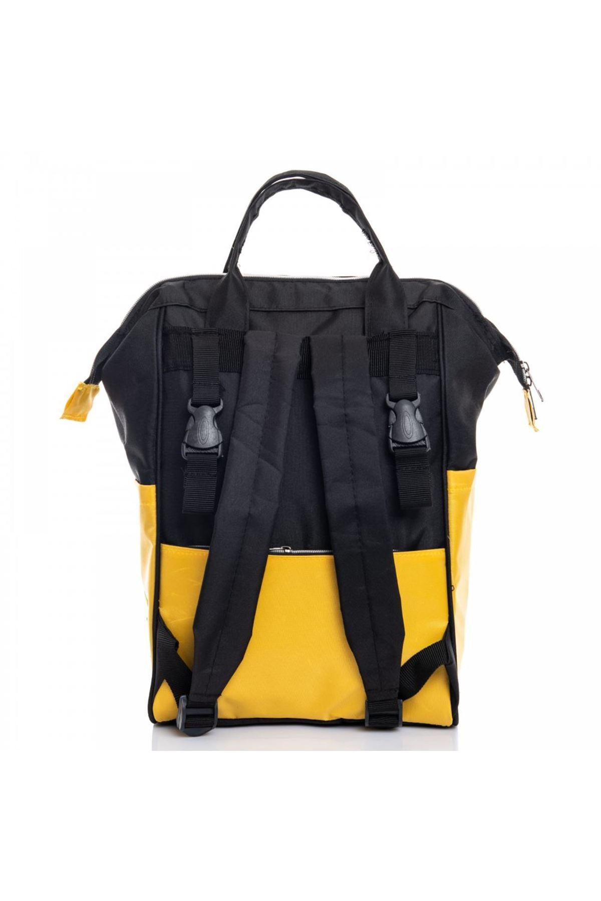 Sarı Siyah Bebek Bakım Çantası
