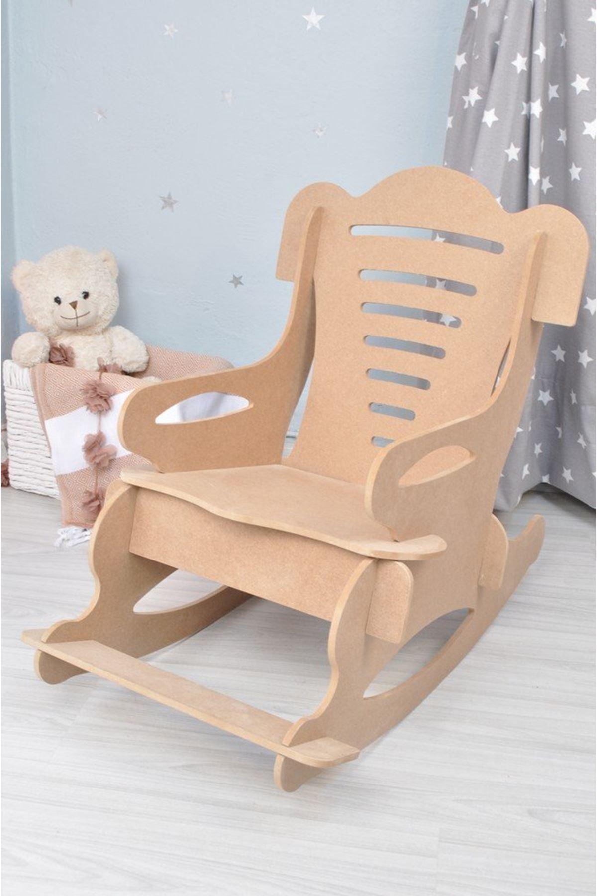 """Bebek, Çocuk Sandalyesi """"Mavi Minderli"""" 25 kg Taşıma Kapasiteli"""
