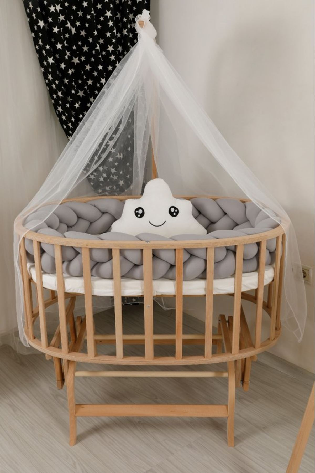 """Knit Protection for Crib """"Gray"""""""