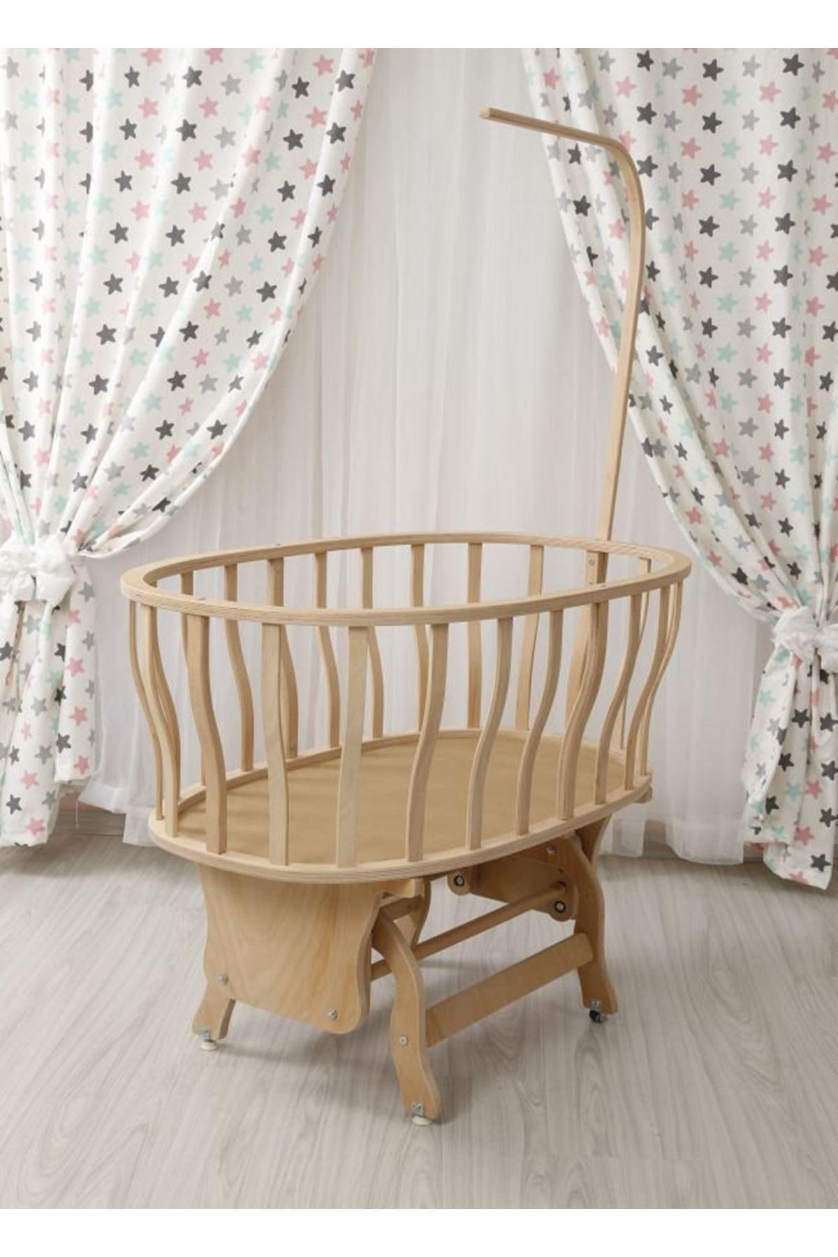 سرير بيضاوي خشب بلاقماش