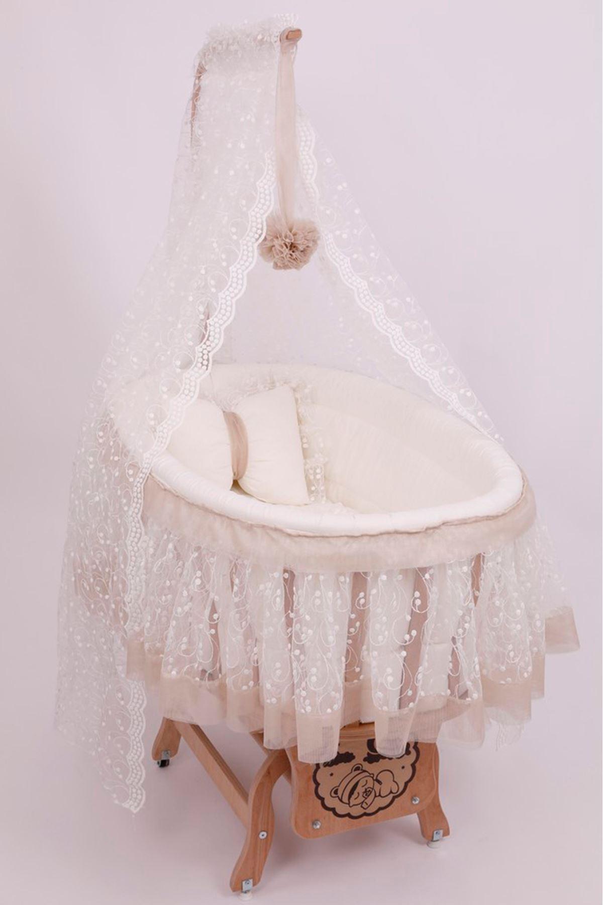 Brown Tobacco Skirt Basket Crib