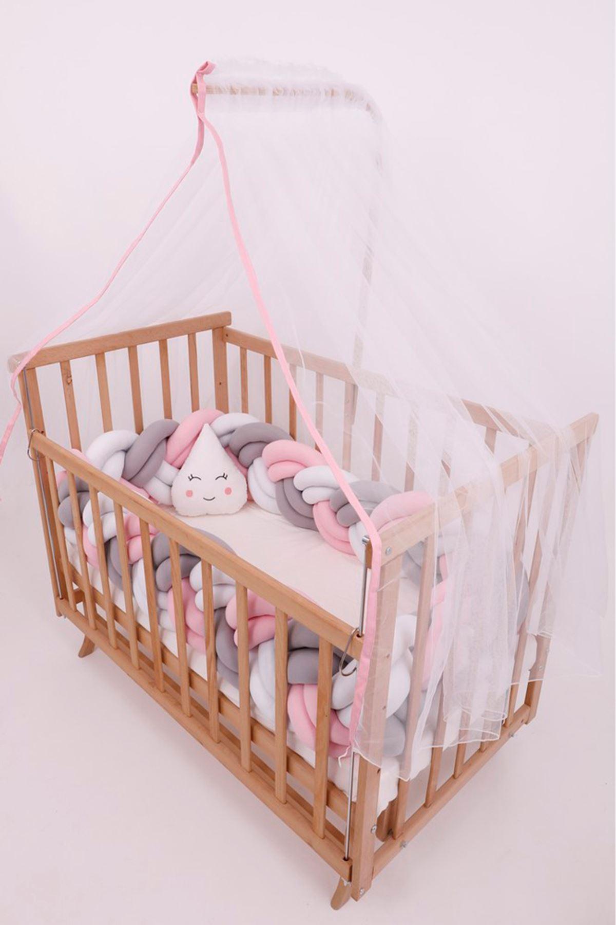 سرير خشبي مستطيل 5 سنوات جدله زهري دبل
