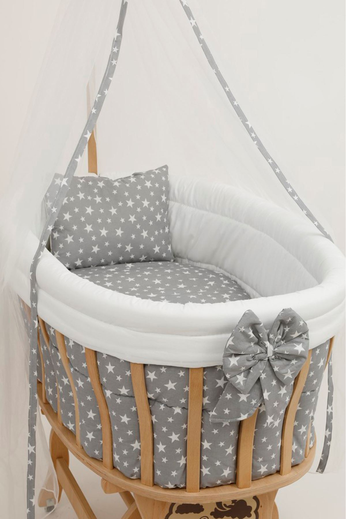 "Crib Protection ""Gray Star"" Baby Sleeping Set"