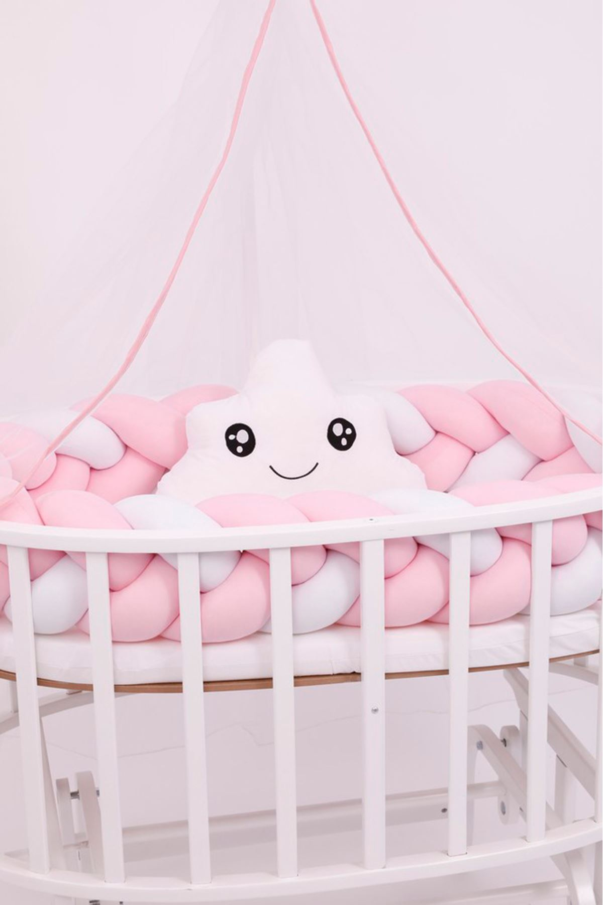 "Knit Protection for Crib ""Pink"""