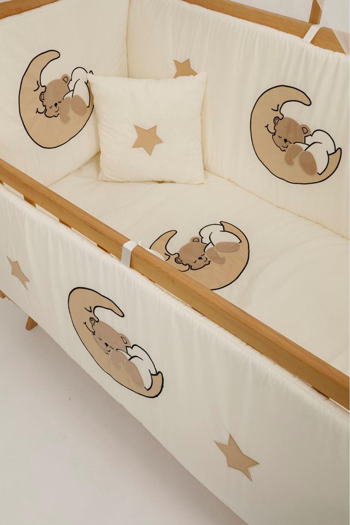 سرير خشبي مستطيل 5 سنوات قماش الدبدوب