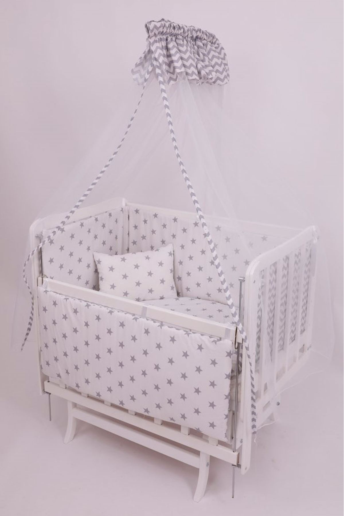 "Baby Sleeping Set ""Gray Zigzag"" 60x90"