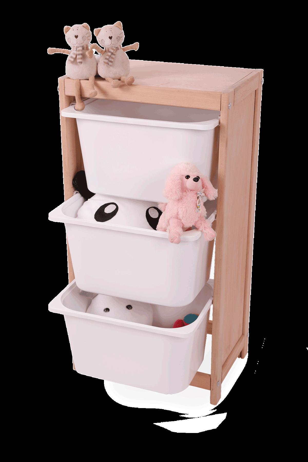 """خزانة متعددة الأغراض """"خزانة ألعاب خشبية مع 3 أدراج"""""""