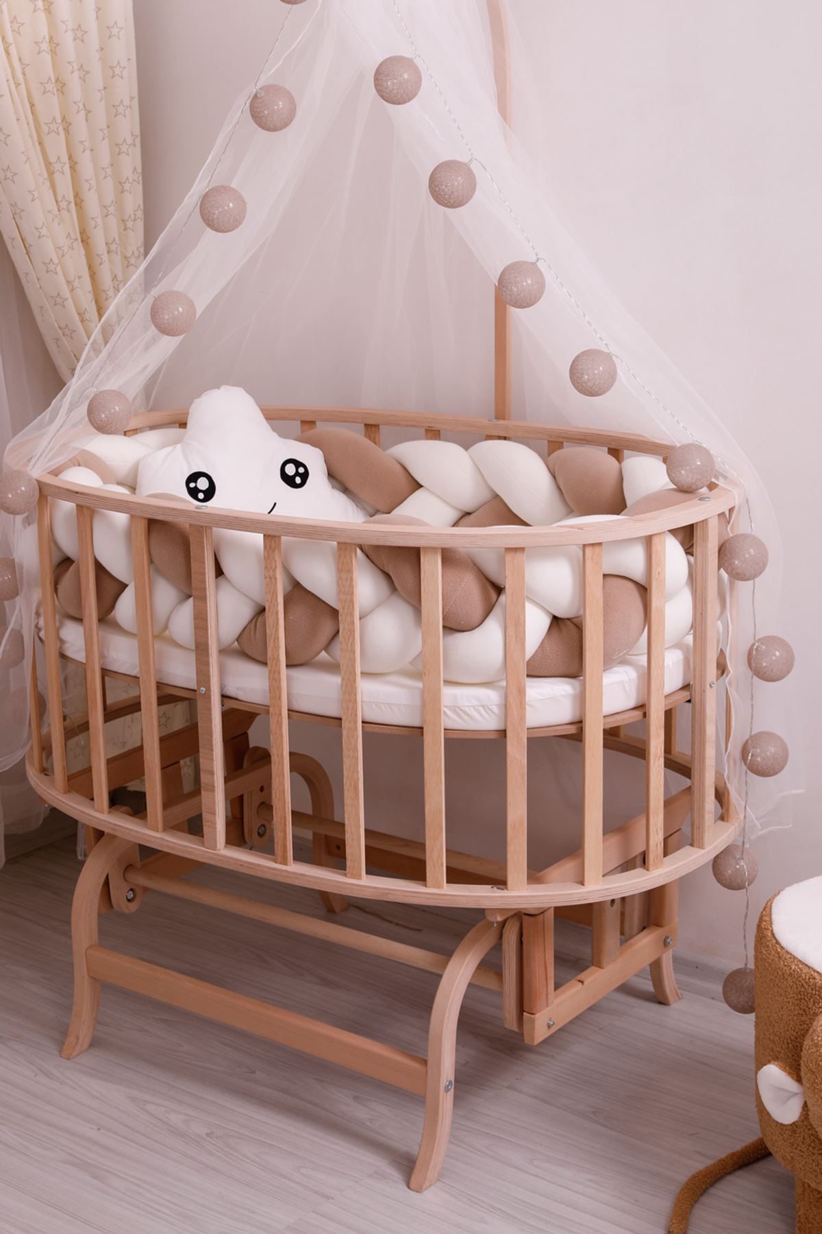 "Knit Protection for Crib ""Gray"""