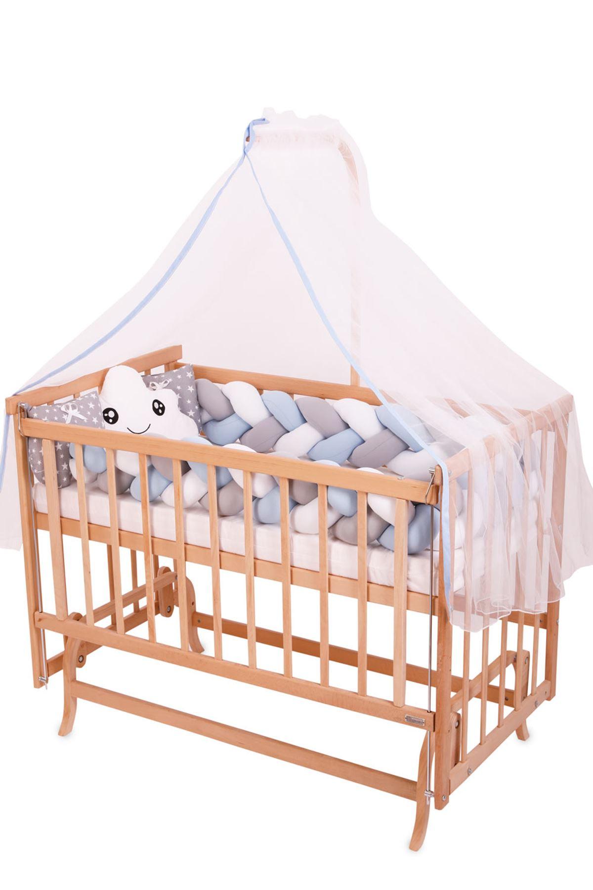 سرير خشبي مستطيل 5 سنوات جدله زهري