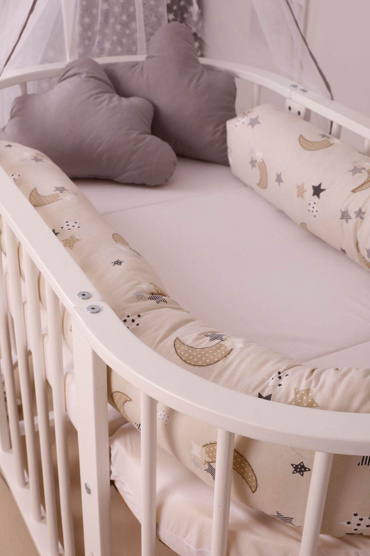 سرير خشبي مستطيل 5 سنوات ضانتيل كريم عادي
