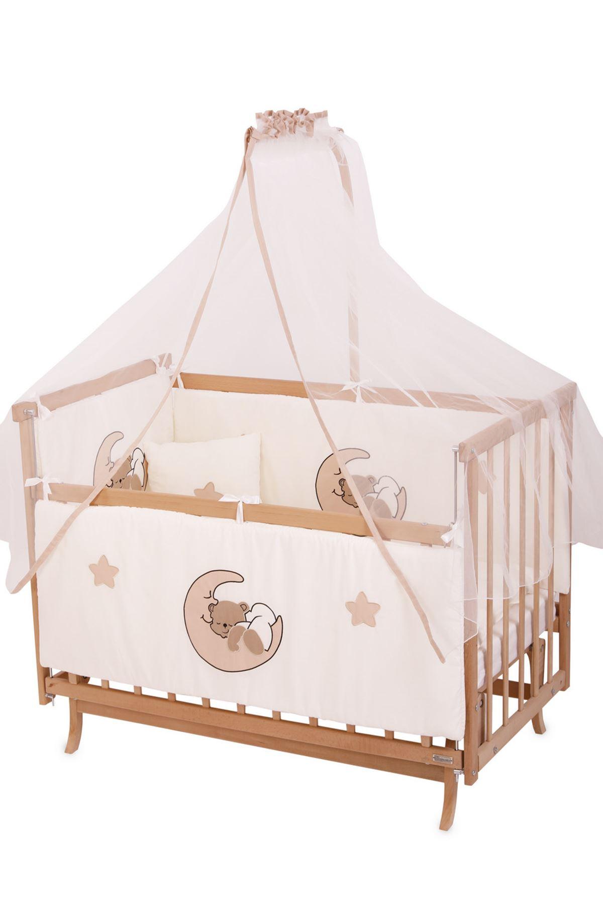 """Bebek Uyku Seti 60x120 """"Krem Ayıcıklı"""""""