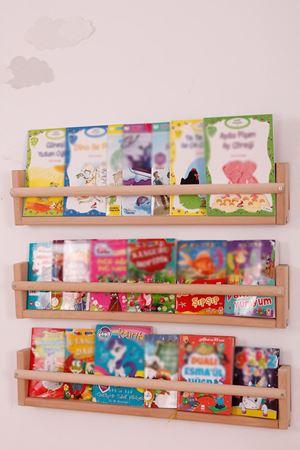 Montessori Ahşap Duvar Kitaplık